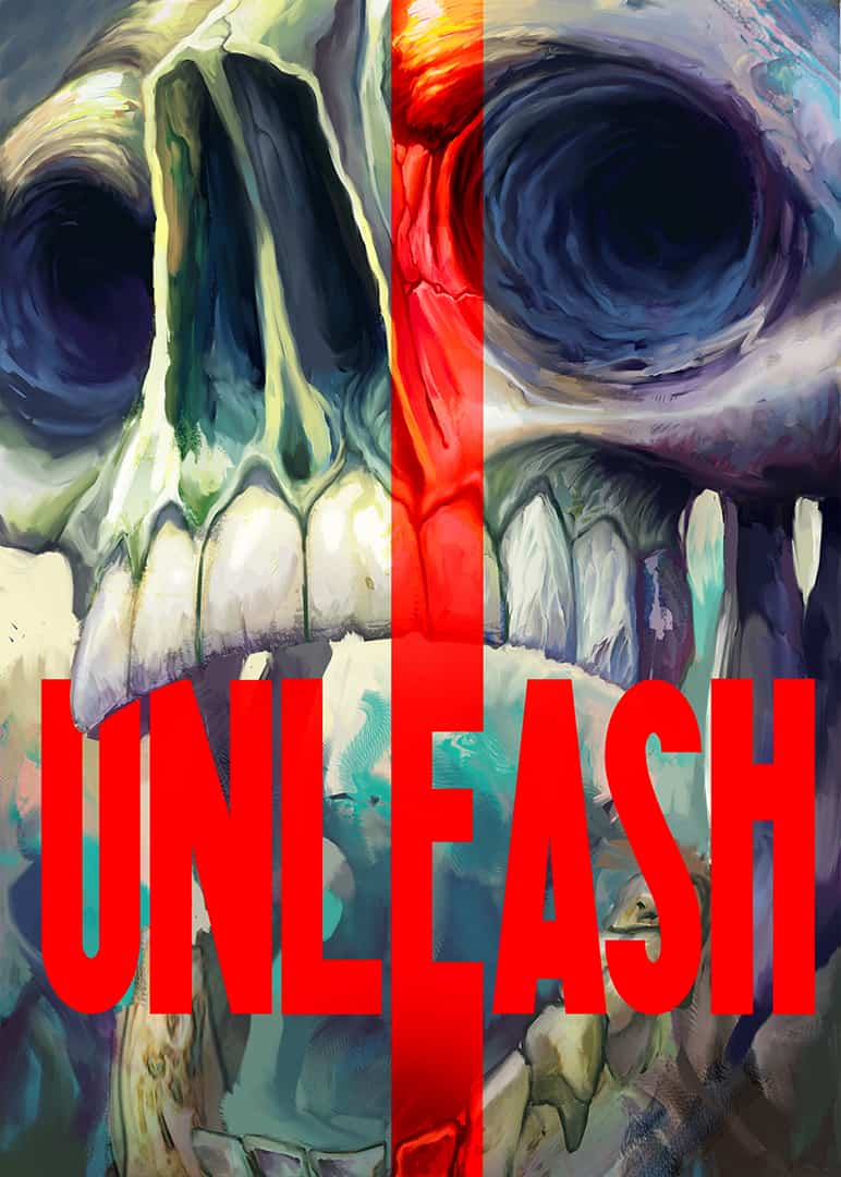 Unleash by Hayden Hapax - 2019 Ki-oon Tremplin Firstly, the full color graphic cover page of demon skull